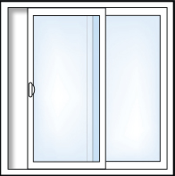2 Panel Sliding Pation Door